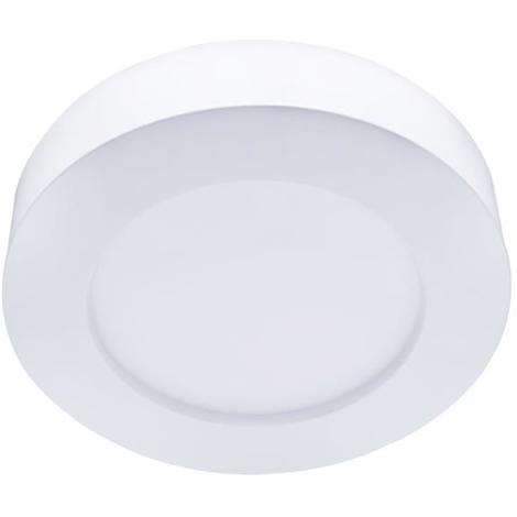 Plafoniera Led Slim 24W Cornice Bianca Applique Tondo Bianco Neutro 4000K