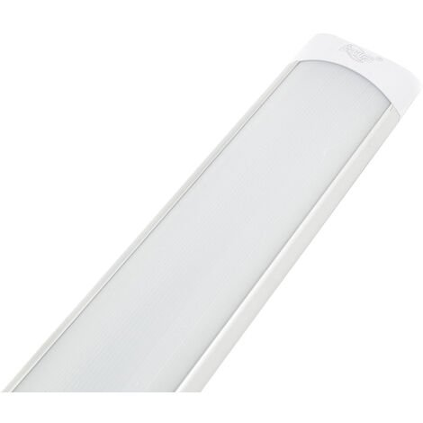 Plafoniera led slim barra applique 120cm 40W luce fredda 220V silver lampada