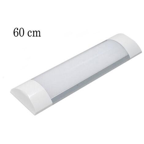 Plafoniera led slim silver 60 cm 20w luce calda barra applique lampada soffitto
