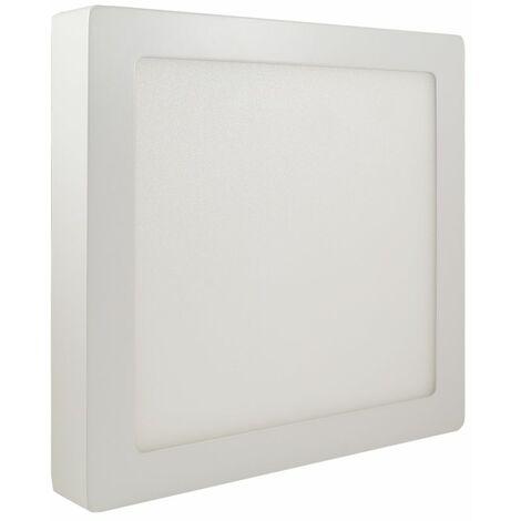 Plafoniera led soffitto 18w quadrato luce fredda pannello con staffa futura