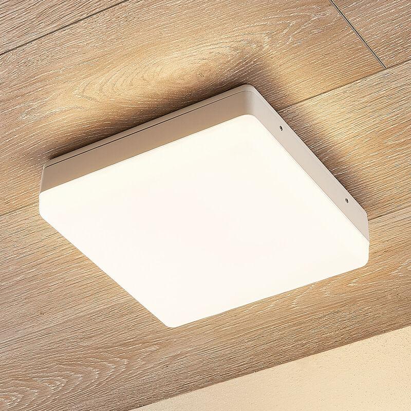 Plafoniera LED Thilo, IP54, bianca, 24 cm - LAMPENWELT