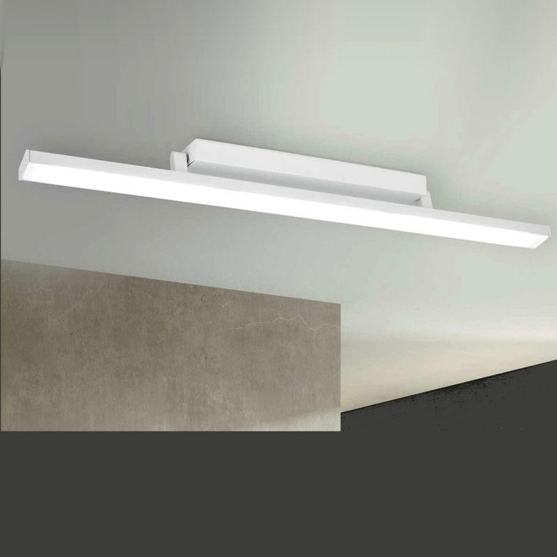 LAM - Plafoniera lm-linear 3099 01 dm 64w led modulo bianco orientabile acciaio alluminio scheda pada soffitto dimmerabile ip40, tonalità luce