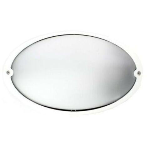 Plafoniera Lombardo Airy ovale bianca E27 IP54 LB82321
