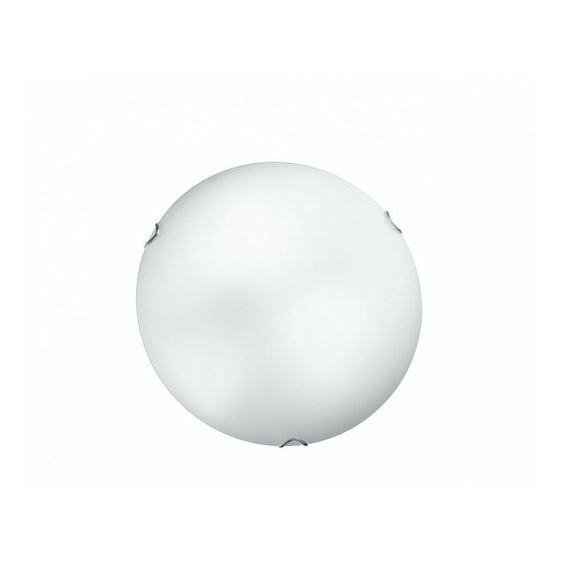 Plafoniera di colore bianco dalla semplice forma rotonda 60 watt E27