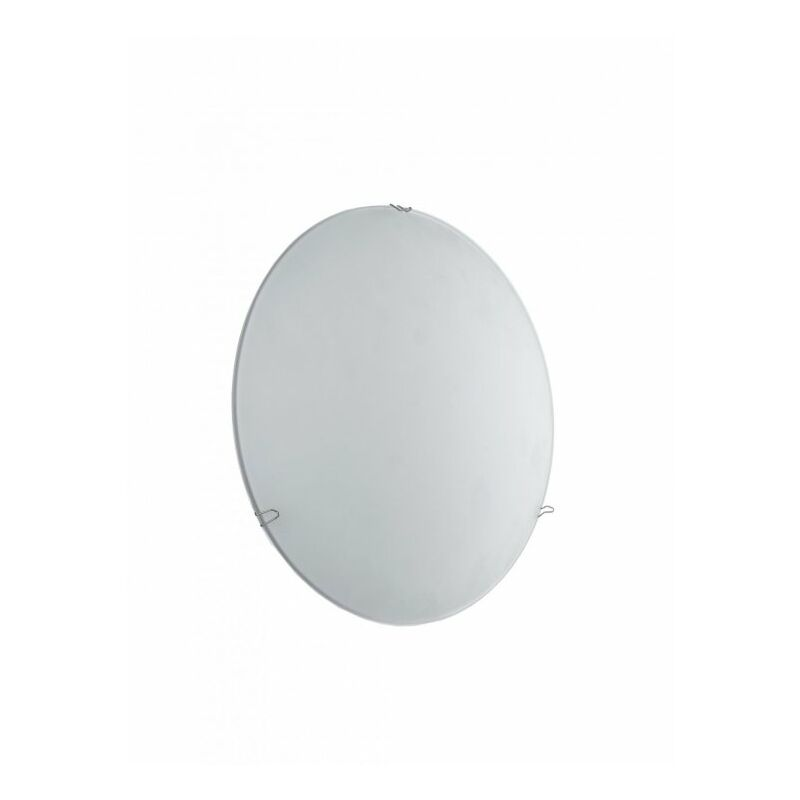 Plafoniera moderna di forma semplice tonda bianca con luci led 8 watt