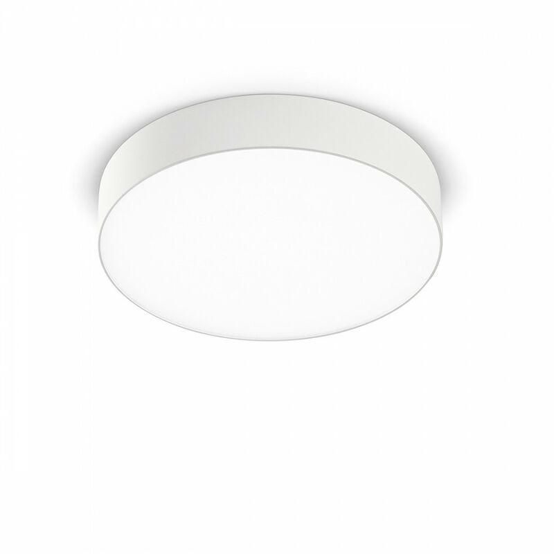 Plafoniera moderna gea led gpl261c 20w led 1500lm ip20 lampada soffitto alluminio bianco opaco tonda interno