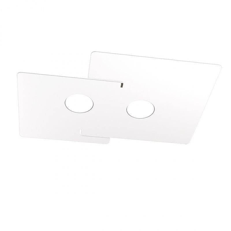 Plafoniera moderna echo 1161 2 gx53 led metallo bianco lampada soffitto interno - Top Light