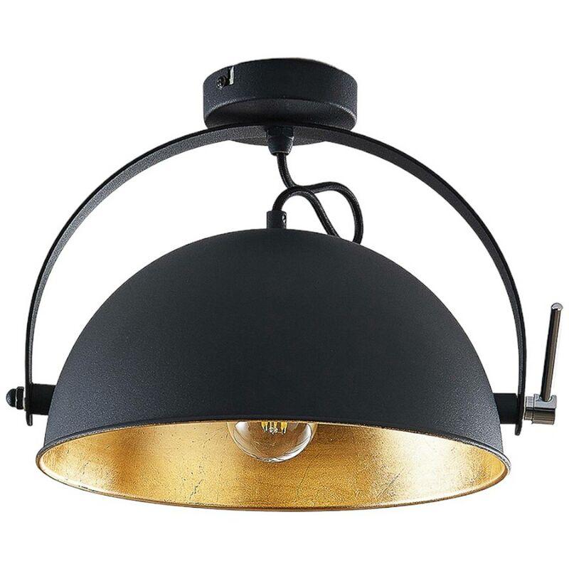 Plafoniera Muriel a 1 luce nero/oro - LINDBY