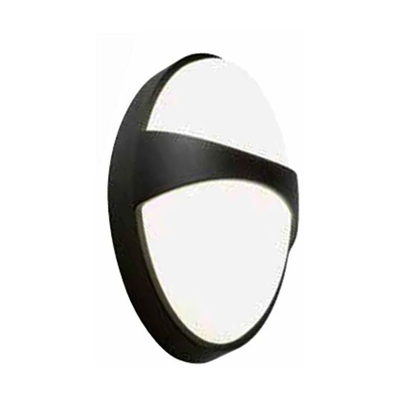 Plafoniera LED Sovil Ovale con fascia 15W 4000K nera 99127/06