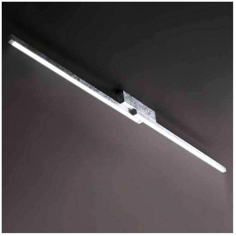 Lampadari Bartalini - Plafoniera sc-pipol pi712 28w led 3200lm 3000°k lampada soffitto moderna bagno interno, finitura metallo foglia argento