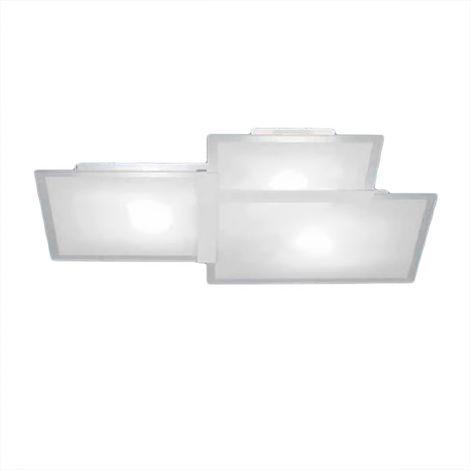 Plafoniera sf-triquadro 1734.20 52cm e27 led vetro bianco moderno lampada parete soffitto interno