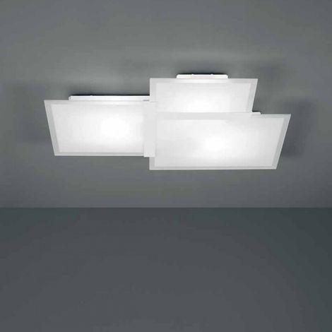 Plafoniera sf-triquadro 1734.21 65cm e27 led vetro bianco moderno lampada parete soffitto interno