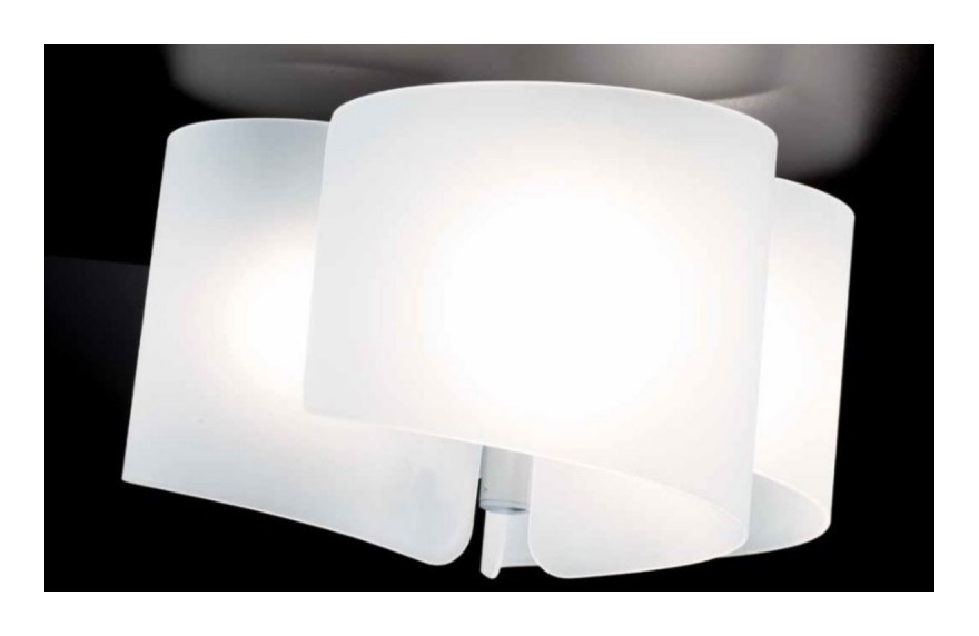 Plafoniera sn papiro e led vetro bianco lampada soffitto