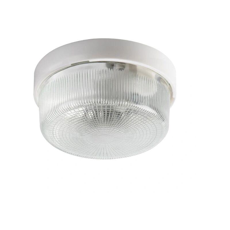 plafoniera stagna vetro 220-240 volt CE E27 trasparente vetro kan 08090