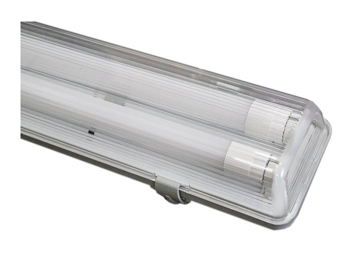 Plafoniera A Led Da 150 Cm : Plafoniera stagno per tubi led 2x25w 150cm ip65 41560