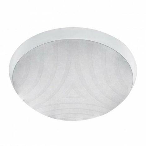 plafoniera tonda da parete 220-240 volt CE E27 IP44 bianco kan 07900
