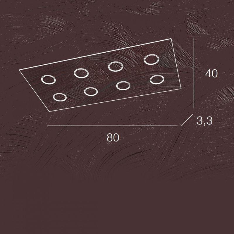 Plafoniera Quadrata Led Soffitto : Plafoniera tp area pl r w gx led metallo bianco