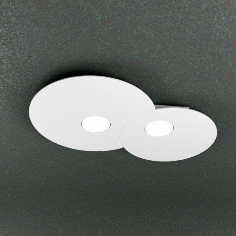 Plafoniera tp-cloud 1128 pl2 r 18w gx53 led nuvola metallo bianco lampada soffitto parete moderna