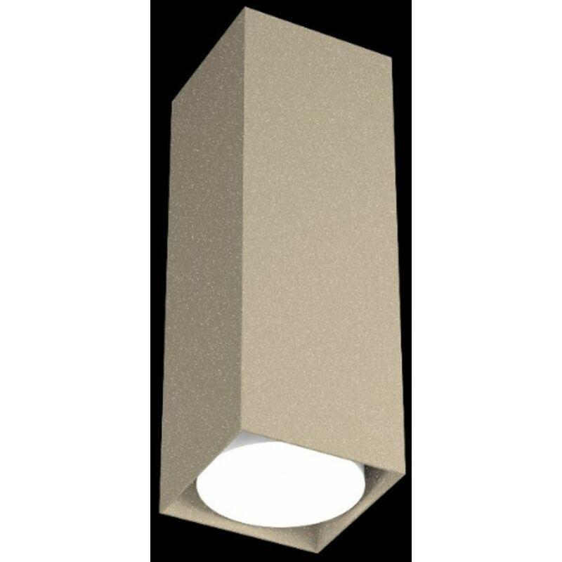 Plafoniera tp-plate 1129 pl25 gx53 led 25h metallo bianco grigio sabbia lampada soffitto cubo moderno quadrata interno, finitura metallo sabbia