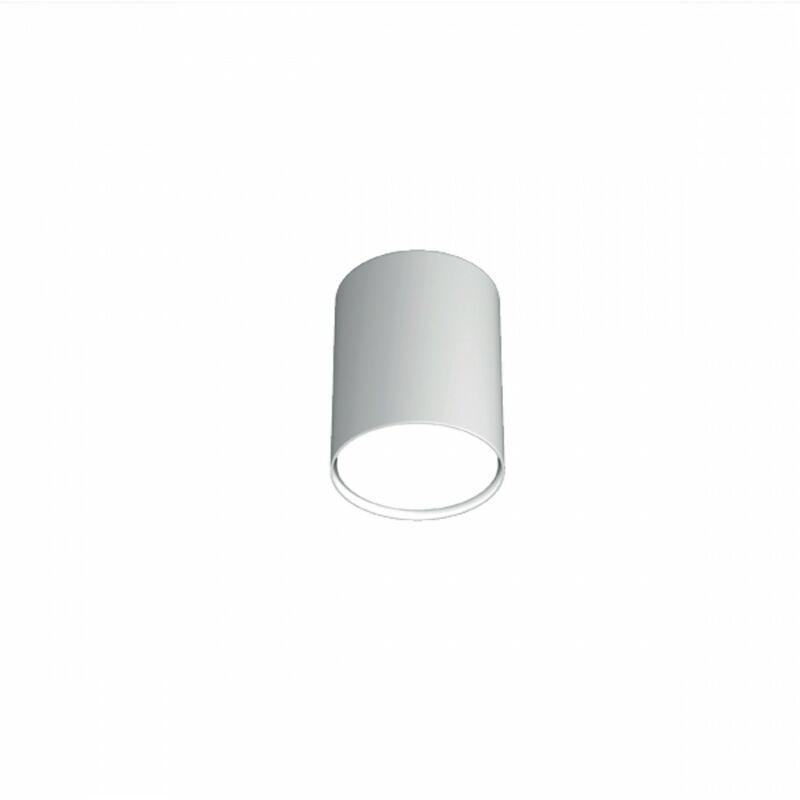 Plafoniera tp-shape 1143 pl10 gx53 led 10h metallo bianco grigio sabbia lampada soffitto cilindro moderna interno, finitura metallo bianco