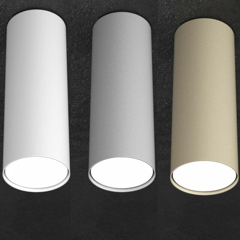 Plafoniera tp-shape 1143 pl25 gx53 led 25h metallo bianco grigio sabbia lampada soffitto cilindro moderna interno, finitura metallo bianco