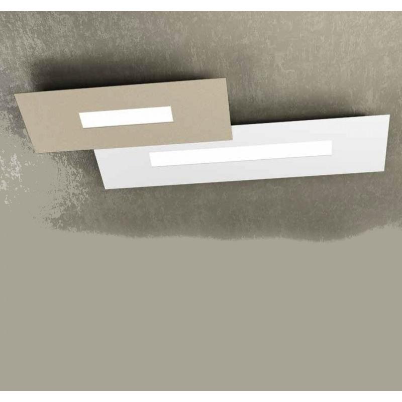 Plafoniere Slim Led Calda : Plafoniera tp wally m g led cm metallo rettangolare
