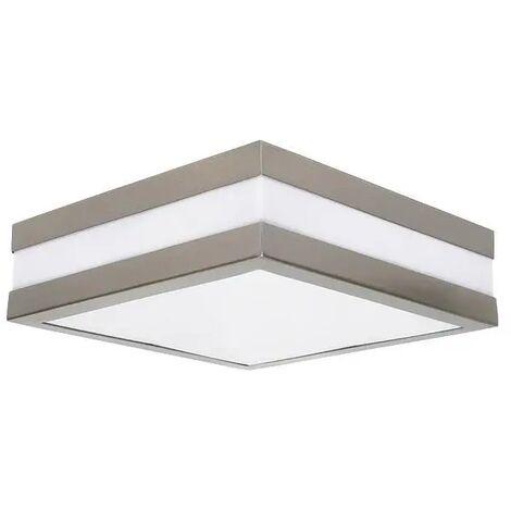 Lampada da parete soffitto in acciaio inox spazzolato Acciaio Casa Ingresso ip44