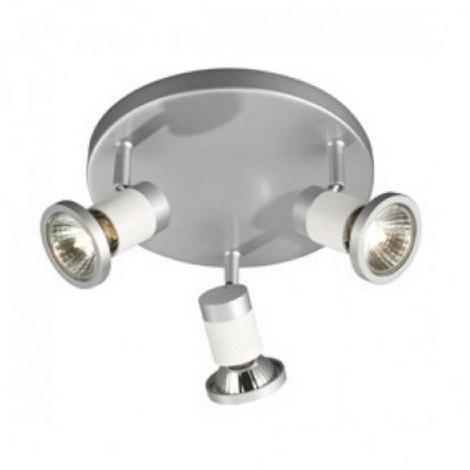 Gissi M/étal Laiton Rond//Luminaire//Lumiere///Éclairage//int/érieur//Salon//Cuisine QAZQA Moderne Plafonnier spot r/étro rond en laiton avec plaque de plafond rond 3 lumi/ères