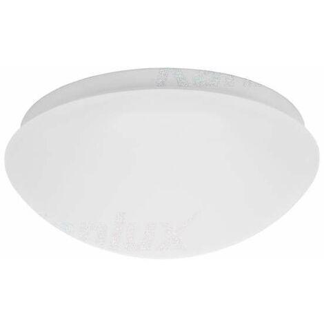 Plafonnier à Culot 1 x E27 à détecteur étanche IP44 rond ∅277mm Blanc
