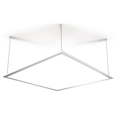 Plafonnier à LED carré de 595 x 595 mm - 2500 lumens lumière blanche ou rvb - | Xanlite