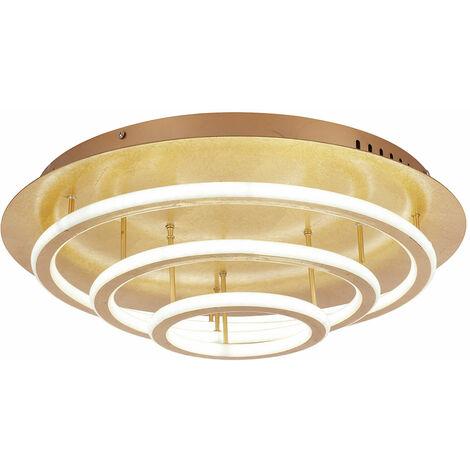 Plafonnier à LED en feuille d'or projecteur dimmable télécommande lampe de lumière du jour Globo 49252-100G