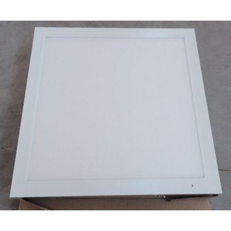 Plafonnier apparent LED 29W dalle 620x620X48mm blanc 4000K 3600lm driver 230V diffuseur opale IK06 IP20/40 RAPSODY-P V2
