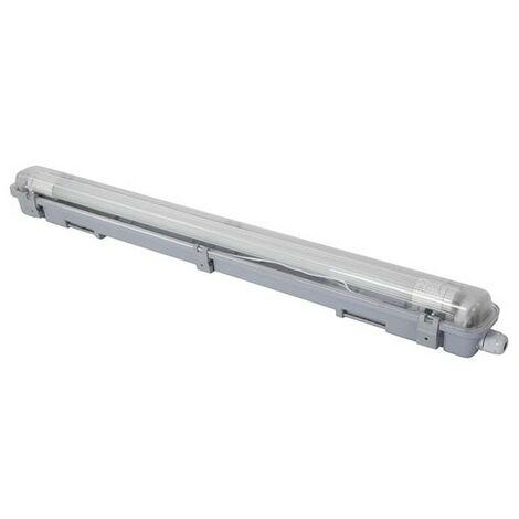 Plafonnier Avec Tube Led T8 - Étanche - 65.5 Cm - Blanc Neutre