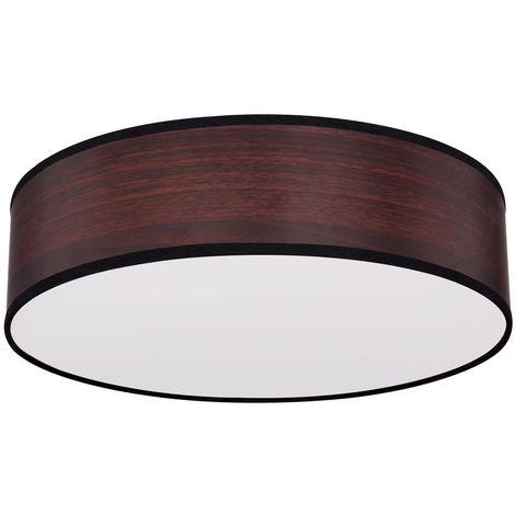 Plafonnier bois design spotlight marron salon salle à manger éclairage cuisine lampe