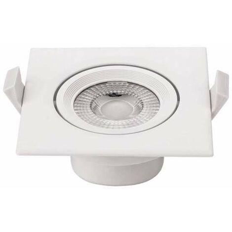 Plafonnier carré encastrable blanc LED 10W COB éclairage 50W - Blanc du Jour 6000K