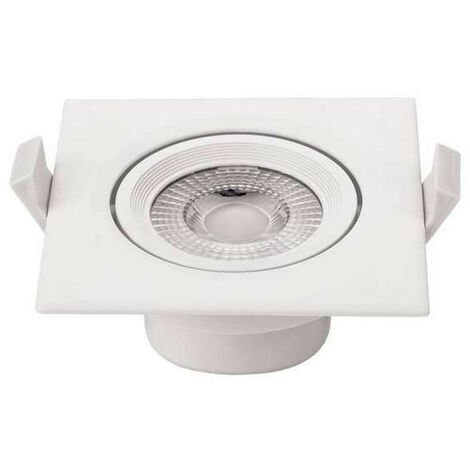 Plafonnier carré encastrable blanc LED 10W COB éclairage 50W - Blanc Naturel 4500K