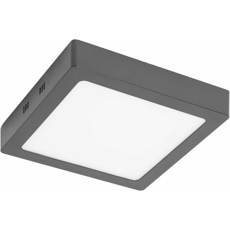 PLAFONNIER CARRE LED 30W 4000K ANTHRACITE IP44