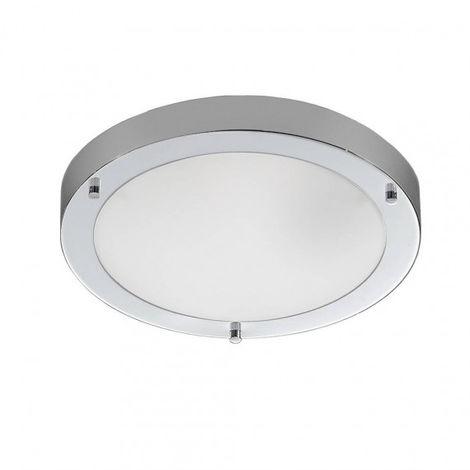 Plafonnier chrome IP44 2 Ampoules