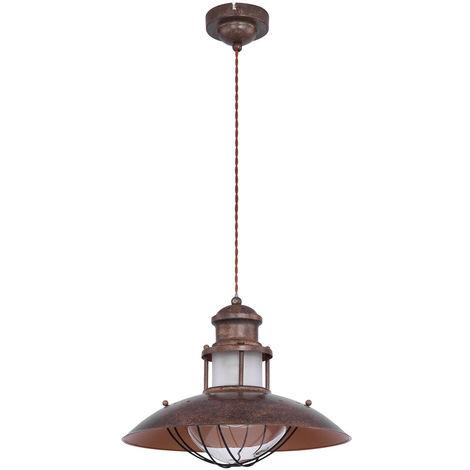 Plafonnier de style rustique rouille rétro FILAMENT lampe suspendue dans un ensemble comprenant un illuminant LED