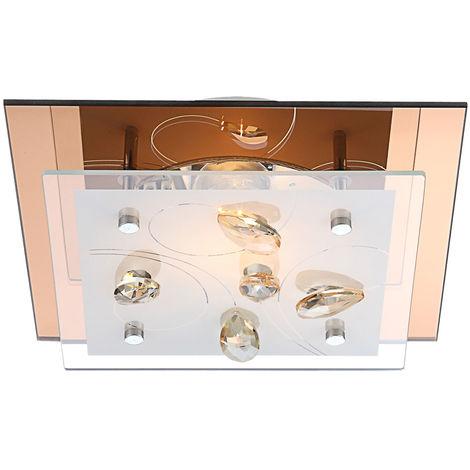 Plafonnier design Salle à manger Cuisine Détecteurs Lampadaire en cristal Champagne Globo 40412