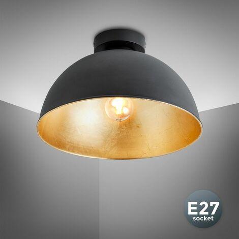 Plafonnier design suspension plafond Loft chambre salon noir-doré LED