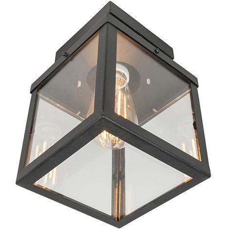 Plafonnier d'extérieur Industriel / Vintage noir 1 lumière - Rotterdam Qazqa Moderne Luminaire exterieur