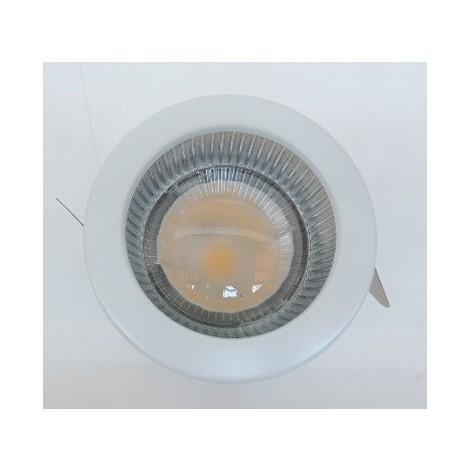 Plafonnier downlight LED 32W bord blanc Ø 85mm fixe blanc chaud 3000K 1380lm 750mA (driver non incl) IP20/44 TARGETTI 1T2792