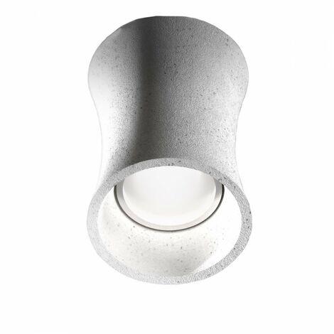 Plafonnier en béton gris clair gea luce duna p gu10 led plafonnier classique rustique