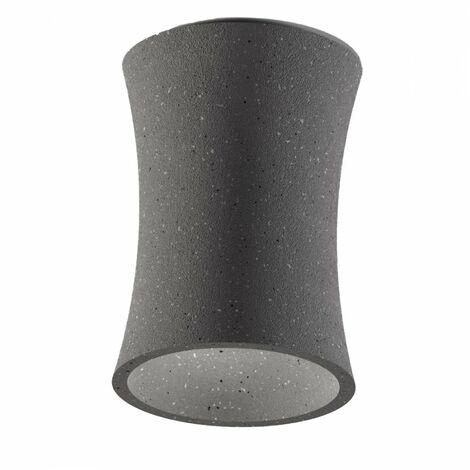 Plafonnier en béton gris foncé gea luce duna p gu10 led plafonnier classique rustique