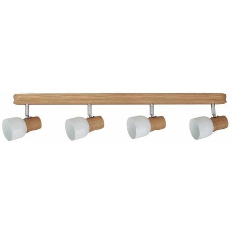 Plafonnier en Chêne huilé, Design Scandinave 4 Douilles, SVANTJE