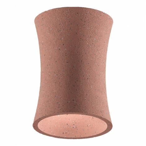 Plafonnier en ciment gea luce rouge duna p gu10 led plafonnier classique rustique