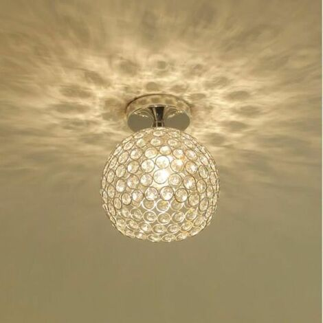 Plafonnier en Cristal Industrielle Métal Fer Luminaire l'éclairage DIY Lustre pour Salon Chambre Café Bar Restaurent Salle à Manger E27