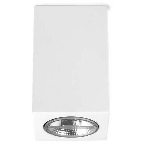 Plafonnier en plâtre Ges H11 cm - Blanc - Blanc