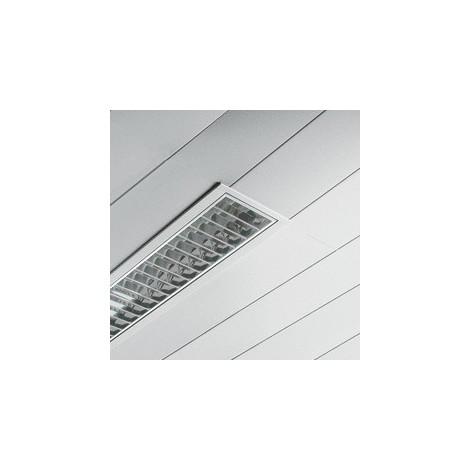 Plafonnier encastré 2X36W blanc 1256x235x70mm sans tubes ballast elec A2 optique satiné CONFORT DISANO 15363108